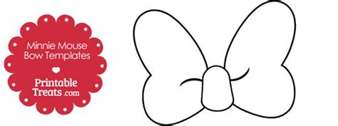 Free Printable Minnie Mouse Bow Template by Printable Minnie Mouse Bow Template Printable Treats