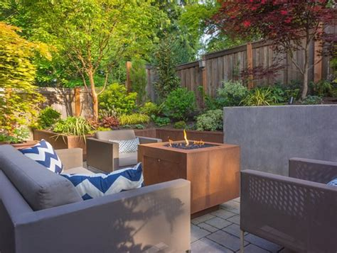 straight  narrow functional garden  portland garden