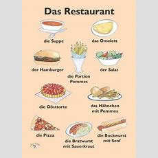 Poster (a3)  Das Restaurant  Learn German German