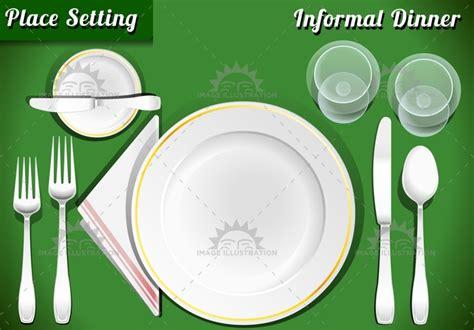 dinner  placemat  image illustration