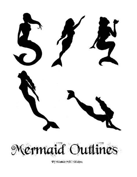 Mermaid Template Mermaid Outlines And Templates Mermaids