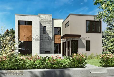 Modern Style Architectural Renders by Modern House Exteriors Architectural Artist