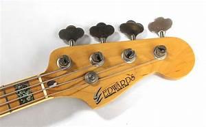 Edwards Jazz Bass Seafoam Green Bass For Sale Rickguitars