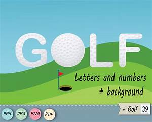golf letters and numbers golf clip art golf With golf alphabet letters