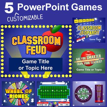 powerpoint games pack  customizable tv game show