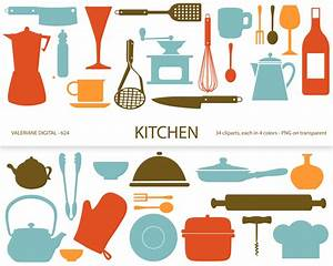 Kitchen clipart's retro kitchen utensils scrapbook