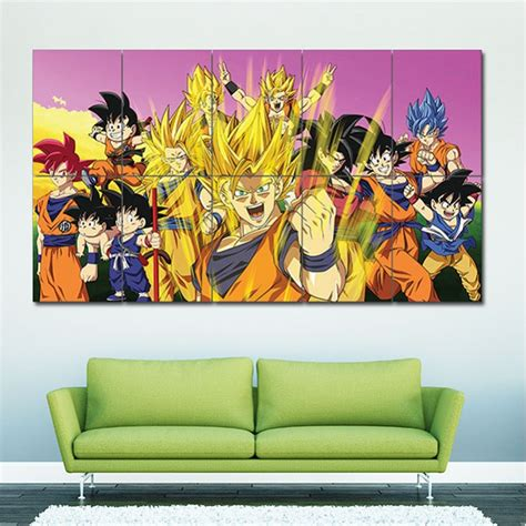 dragon ball z goku characters block giant wall art poster