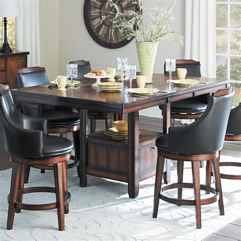 Free shipping on orders of $35+ and save 5% every day with your target redcard. Homelegance Bayshore Transitional Counter Height Table with Storage | Del Sol Furniture | Pub Tables