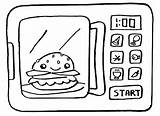 Microwave Coloring Pages Ovens Burger Epic Cooking Sheet Children Fun sketch template