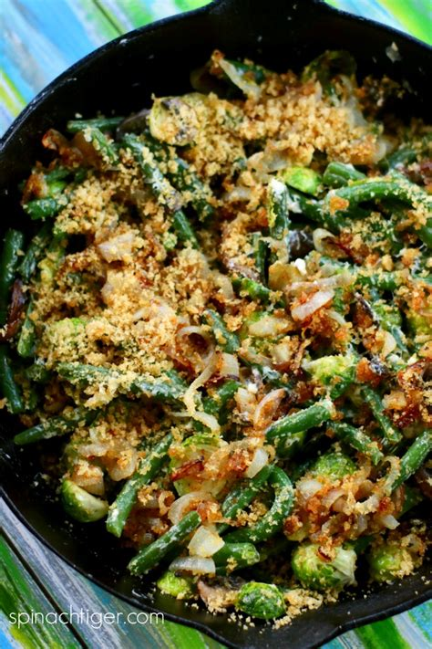 carb green beans casserole  brussels sprouts  bacon