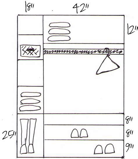 Closet Dimentions by How To Build Custom Closet Shelves View Along The Way