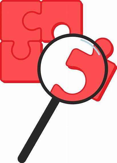 Magnifying Clipart Glass Puzzle Pieces Mystery Clip