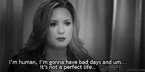 Demi Lovato Quote (About bad days, black and white, gif ...