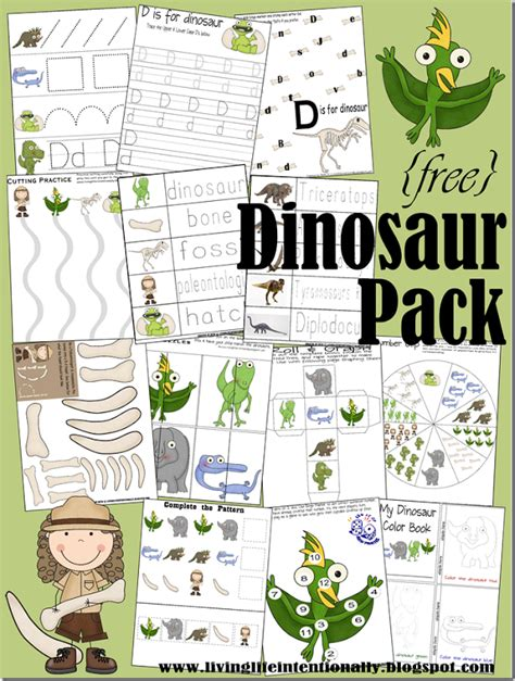 coupon critter educational freebie dinosaur pack