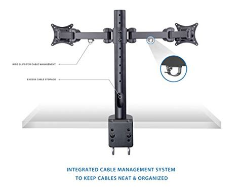 Desk Mount Monitor Arm Malaysia by Mount It Dual Lcd Monitor Desk Mount Stand Heavy Duty