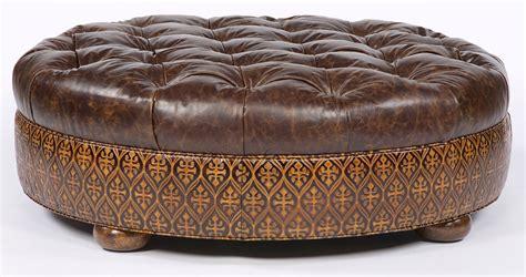 large circular ottoman large  ottoman  storage