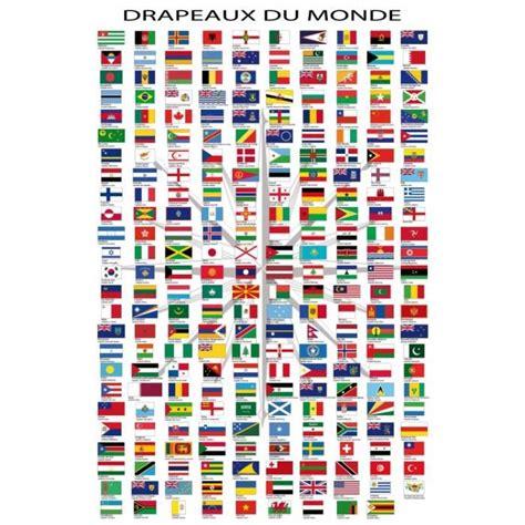 Carte Du Monde à Gratter Avec Drapeau by Drapeaux Du Monde Posters Noms Des Pays E Achat