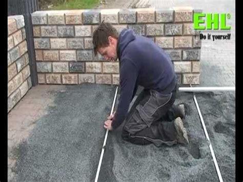 terrassenplatten auf beton in splitt verlegen plattenverlegung auf edelsplittbettung anleitung