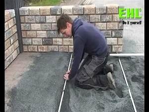 Terrassenplatten Verlegen Auf Splitt : plattenverlegung auf edelsplittbettung anleitung youtube ~ Michelbontemps.com Haus und Dekorationen