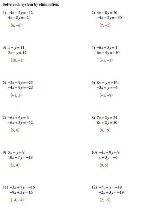 systems of equations substitution worksheet homeschooldressage