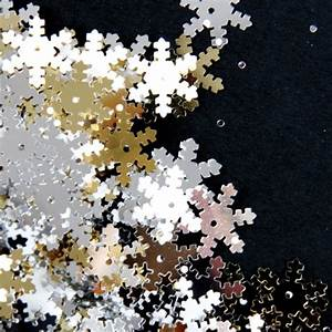 Buy Silver, Gold and White Snowflake Sequins 70g