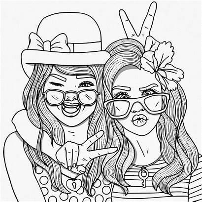 Coloring Pages Bff Printable Friend Adults
