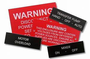 Signs banners tags electrical panel tags engraved for Electrical panel tags