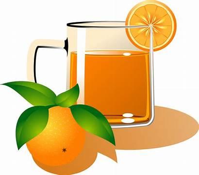 Juice Orange Clipart Cartoon Cliparts Apple Fruit