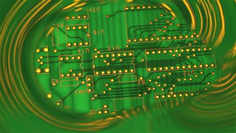 Growing Green Circuit Board Background Stock Footage