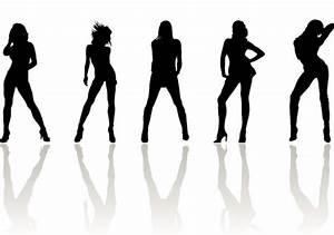 Posing Fashion Women Silhouette Vectors - Vectors free ...