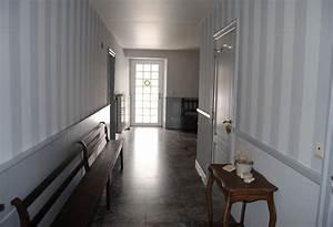 Papier Peint Pour Couloir : papier peint couloir sombre menuiserie ~ Melissatoandfro.com Idées de Décoration