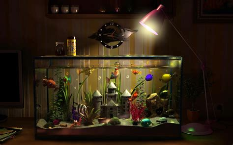 Animated Fish Tank Wallpaper Windows 7 - animated aquarium desktop wallpaper 53 images
