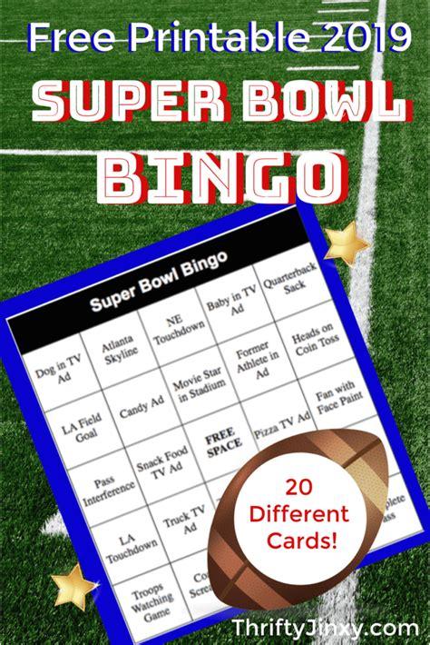 printable super bowl bingo cards   thrifty jinxy