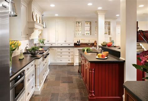 Slate Floors for Traditional Kitchen with Tile Floor