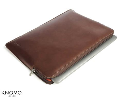 knomo housse de protection cuir marron macbook pro 13 quot