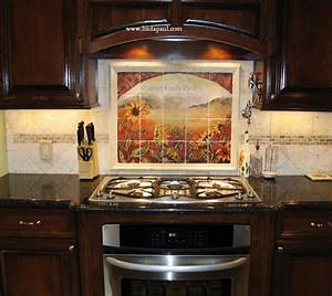 sunflower kitchen decor tile murals western backsplash With tile ideas for kitchen backsplash
