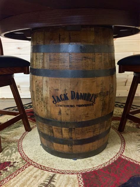 whiskey barrel pub table jack daniels whiskey barrel pub table rustic dining