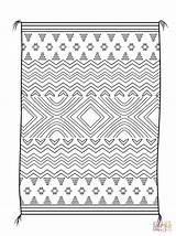 Coloring Blanket Navajo Pages Native American Printables Designs Printable Indian Sheets Clipart Rug Pattern Blankets Weaving Drawing Paper Dot sketch template