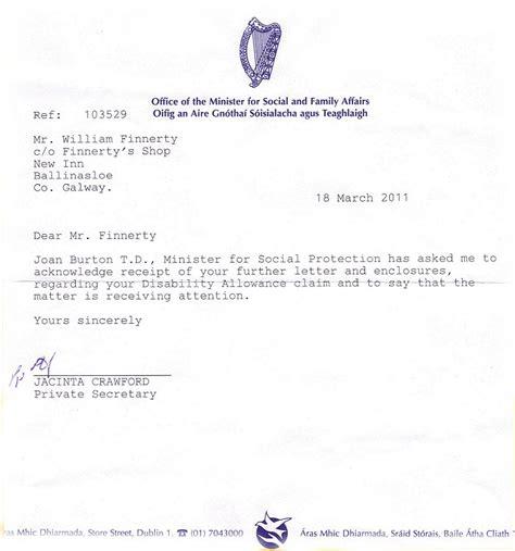 registered letter  social welfare services office