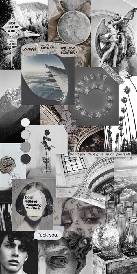 background wallpaper poster dinding aesthetic hitam putih