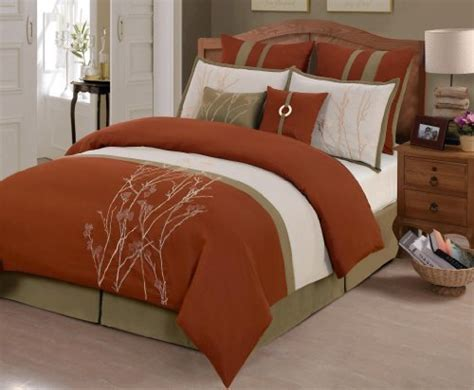 rust colored duvet cover rust colored comforters and bedding sets