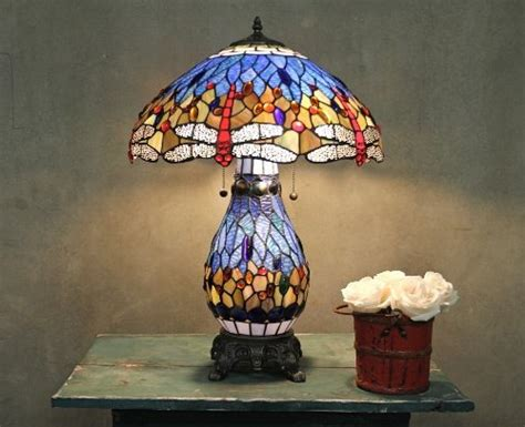 Tiffany Table Lamps With Lighted Base Motion Sensor Light Bulbs Outdoor Best Solar Powered Lights Panel Street Lighted Christmas Decorations Wave Socket Diy Night Brightest Bulb