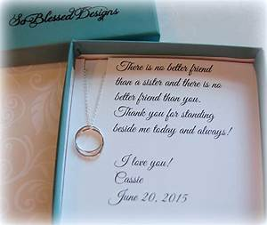 sister wedding gift sister maid of honor gift by With wedding gift from maid of honor