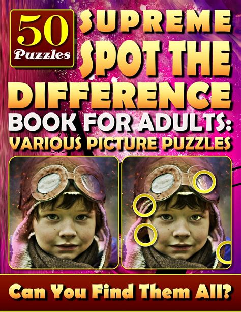 Supreme Spot The Difference Book For Adults Various