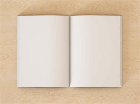 Free Open Book Pages Mockup (psd