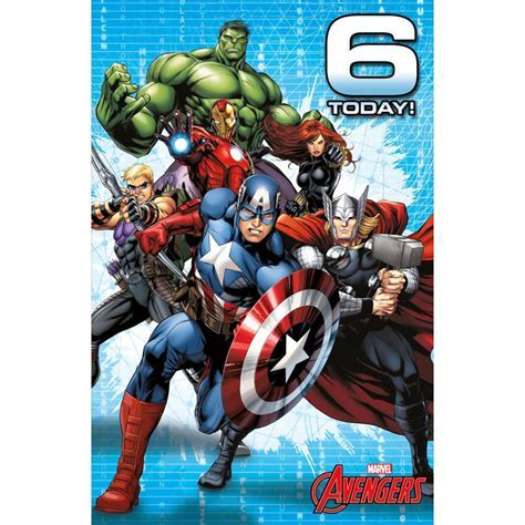 6 Today Marvel Avengers Birthday Card (487214 0 1