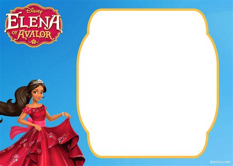 printable elena  avalor invitation template