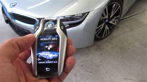 bmw  touchscreen display key fob youtube