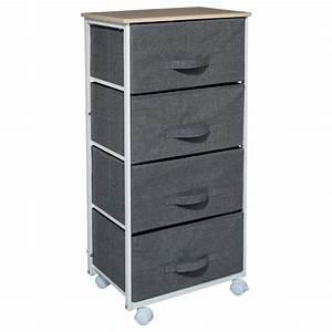 Meuble Rangement Gris : meuble de rangement roulettes gris fonc ~ Teatrodelosmanantiales.com Idées de Décoration