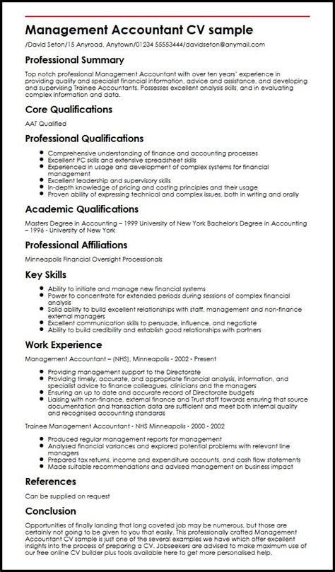 curriculum vitae accounting sowtemplate